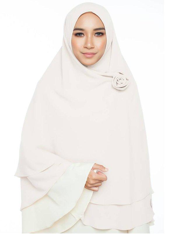 Umrah Banner: Khimar 2 Layer Mist Oak